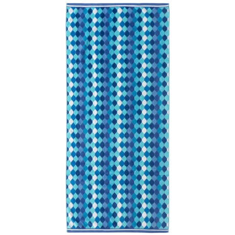 Lintex Diamonds Cotton Velour Beach Towel - 31x68""