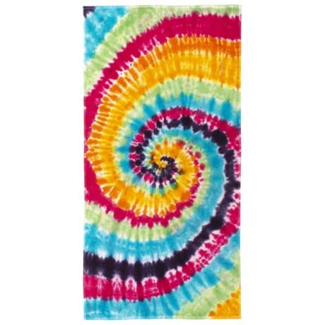 """Lintex Tie-Dye Cotton Velour Beach Towel - 30x60"""""""