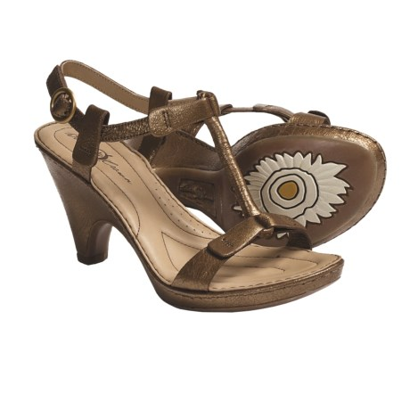 Born Crown by  Alcala II T-Strap Sandals - Leather (For Women)