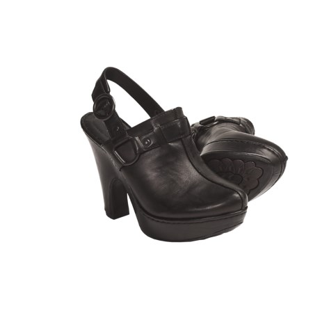 Born Crown by  Mirna Platform Clogs - Leather, Sling-Back (For Women)