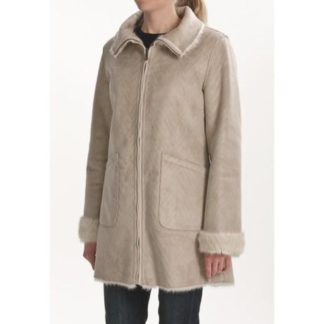 Weatherproof Faux-Shearling to Faux-Fur Coat - Reversible (For Women)