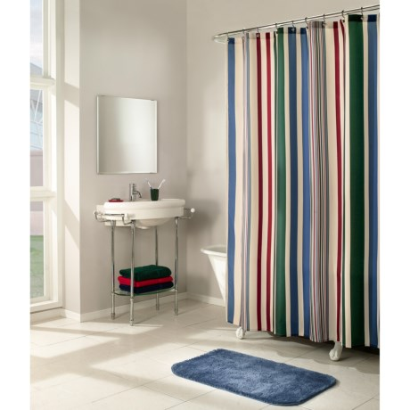 Commonwealth Home Fashions Flo Stripe Shower Curtain - Microfiber