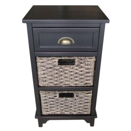 "J Hunt Acacia Wood Storage Table - 15 x 12 x 28"""