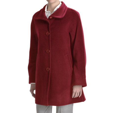 Ellen Tracy Outerwear Classic Kimono - Wool-Angora (For Plus Size Women)