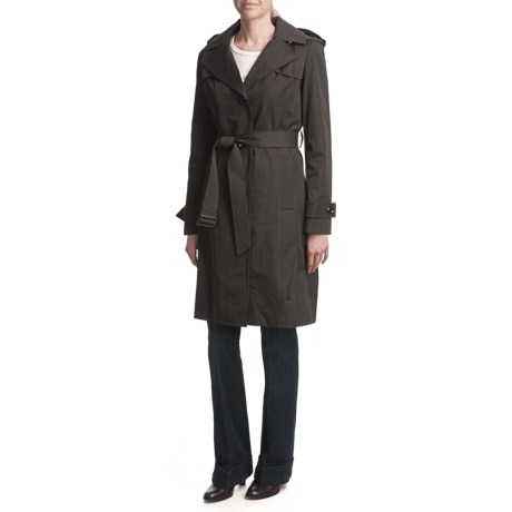 Ellen Tracy Outerwear Trench Coat - Quilted Liner, Metro Length (For Women)