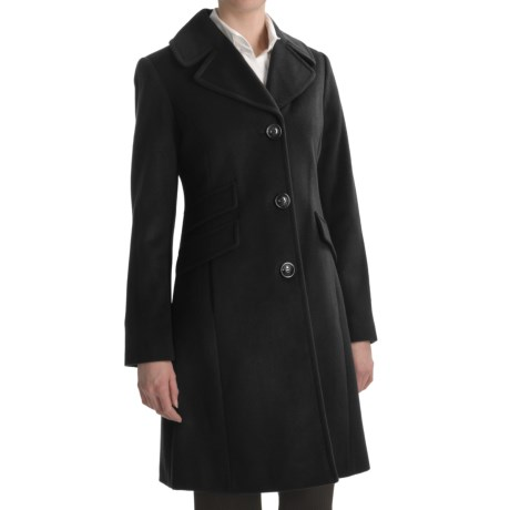 Ellen Tracy Outerwear Straight Wool Coat (For Women)