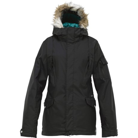 Burton The White Collection Parka Jacket - Insulated, Faux-Fur-Trimmed Hood (For Women)