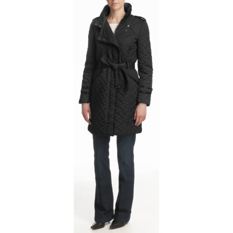 Cole Haan Signature Quilt Coat - Belted (For Women)