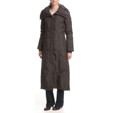 Cole Haan Long Down Coat - Pillow Collar (For Women)