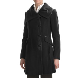 Cole Haan Wool-Cashmere Coat - Envelope Collar (For Women)
