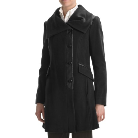 Cole Haan Wool-Cashmere Coat - Envelope Collar (For Women)