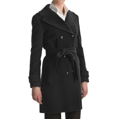 Cole Haan Wool-Cashmere Coat - Double Breasted (For Women)