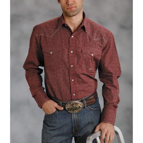 Roper Amarillo Shirt - Tiny Floral, Long Sleeve (For Men)