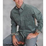 Roper Scratched Fleur-De-Lis Print Shirt - Long Sleeve (For Men)