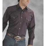 Roper Karman Dobby Stripe Shirt - Snap Front, Long Sleeve (For Men)
