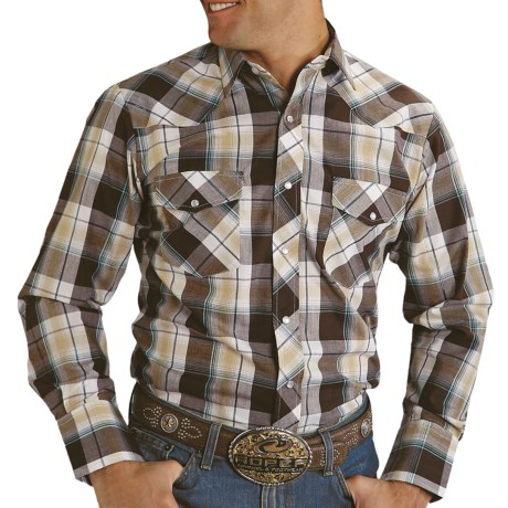 Roper Metallic Plaid Shirt - Long Sleeve (For Men)