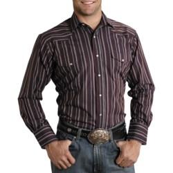 Roper Quartz Stripe Shirt - Pearlized Snaps, Long Sleeve (For Men)