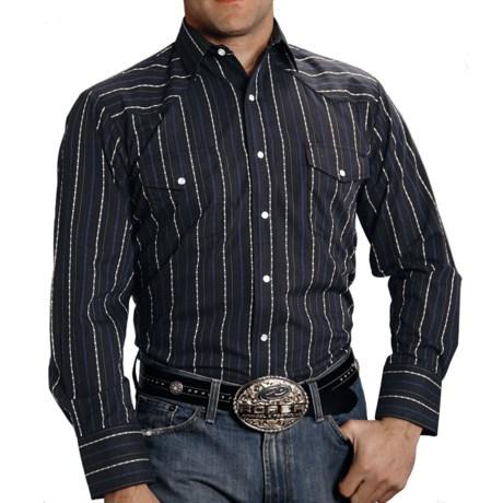 Roper Dobby Stripe Shirt - Snap Front, Long Sleeve (For Men)