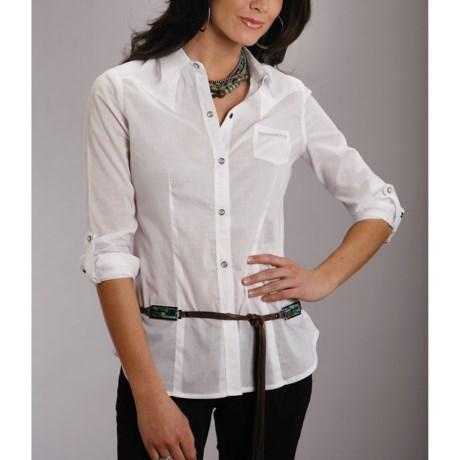 Stetson Cotton Lawn Shirt - Long Sleeve (For Women)