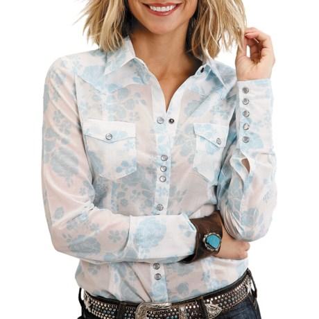 Stetson Modern Rose Print Shirt - Long Sleeve (For Women)