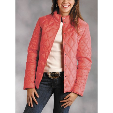Roper Diamond Quilted Jacket (For Women)