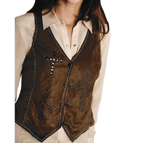 Roper Native Heritage Faux-Suede Vest (For Women)