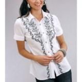 Roper Urban Romantic Cotton Lawn Shirt - Short Sleeve (For Women)