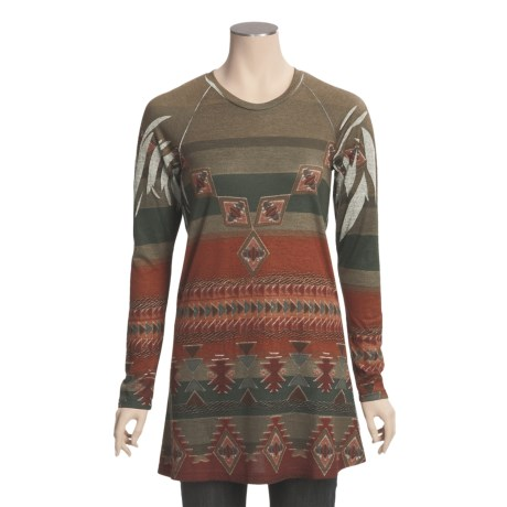 Roper Native Heritage Tunic Shirt - Long Sleeve (For Women)
