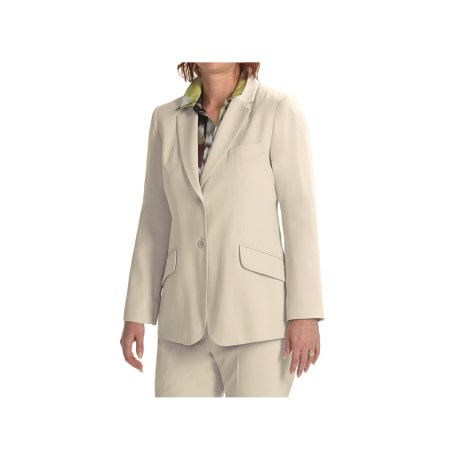 Louben Notched Lapel Blazer (For Women)