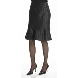 Louben Crinkle Linen Trumpet Skirt (For Women)