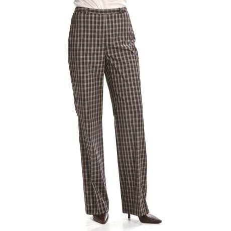 Louben Stretch Plaid Pants (For Women)