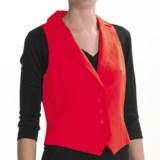 Louben Cotton-Linen Vest - Notched Lapel (For Women)