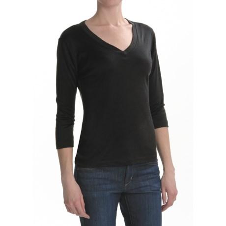 Louben Silk-Cotton Shirt - 3/4 Sleeve (For Women)