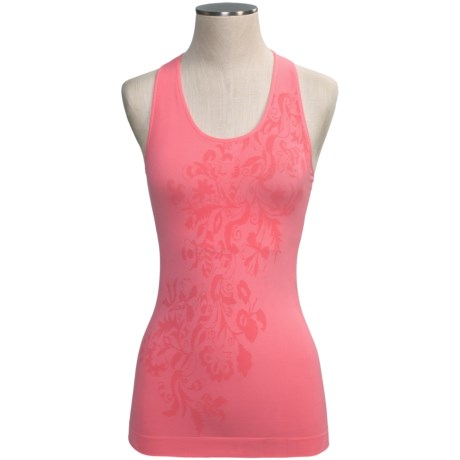 Climawear Seamless Floral Workout Tank Top - Built-In Bra (For Women)
