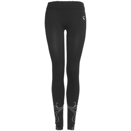 Climawear Seamless Athletic Fold-Over Print Leggings (For Women)
