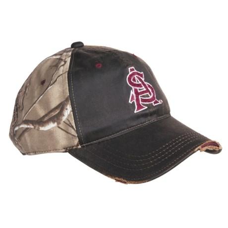 Outdoor Cap College Team Cap - 3D Logo, 6-Panel, Distressed Bill (For Men)