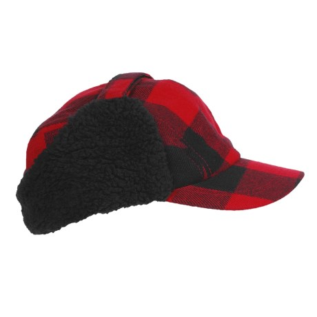 Outdoor Cap Plaid Woodsman Hat - Insulated, Ear Flaps (For Men)