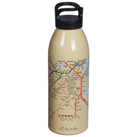 Liberty Bottle Works Water Bottle - 24 fl.oz.,  BPA-Free, Maps Collection