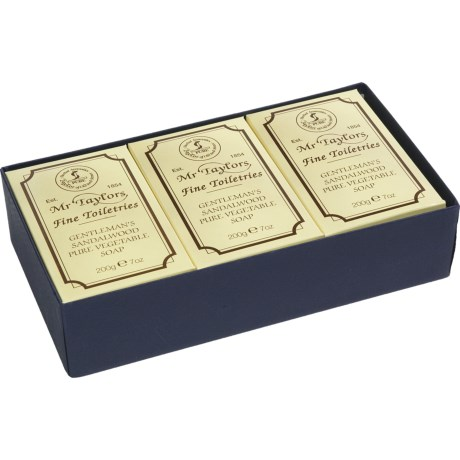 Taylor of Old Bond Street Sandalwood Bath Soaps - 3-Pack