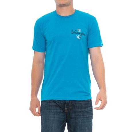 Wrangler 1947 Indigo Brand T-shirt - Short Sleeve (For Men)
