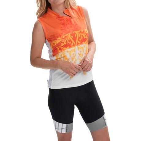 Terry Mandarin Cycling Jersey - Sleeveless (For Women)