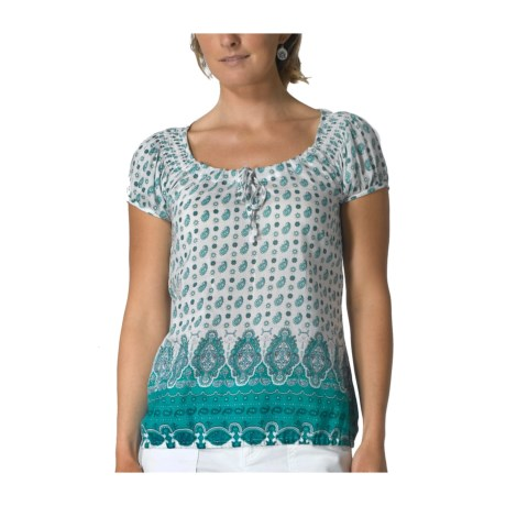 prAna Gigi Peasant Shirt - Cotton-Silk, Short Sleeve (For Women)