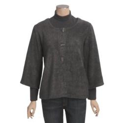 ALPS Bayshore Cardigan Sweater - Fleece, 3/4 Sleeve (For Women)