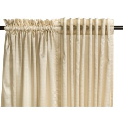 """Commonwealth Home Fashions Bellary Curtains -104x 95"""", Faux Silk, Back-Tab or Pole-Top, Lined"""
