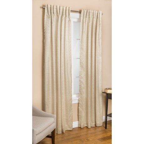 """Commonwealth Home Fashions Bellary Curtains - 104x63"""", Faux Silk, Back-Tab or Pole-Top, Lined"""