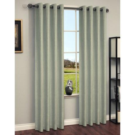 "Habitat Chambray Curtains - 104x84"", Grommet-Top"