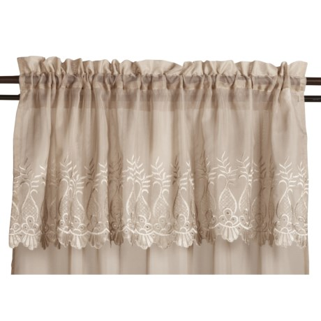"Commonwealth Home Fashions St. James Sheer Valance - 50x17"", Pole-Top"