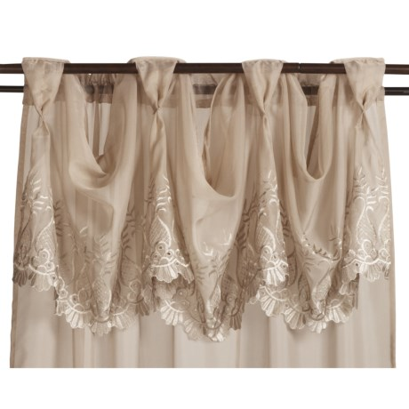 "Commonwealth Home Fashions St. James Sheer Majestic Valance - 72x16"", Pleated Tab Top"