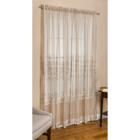 "Commonwealth Home Fashions St. James Sheer Curtains - 100x84"", Pole-Top"