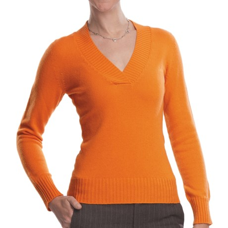 Johnstons of Elgin V-Neck Sweater - Cashmere (For Women)